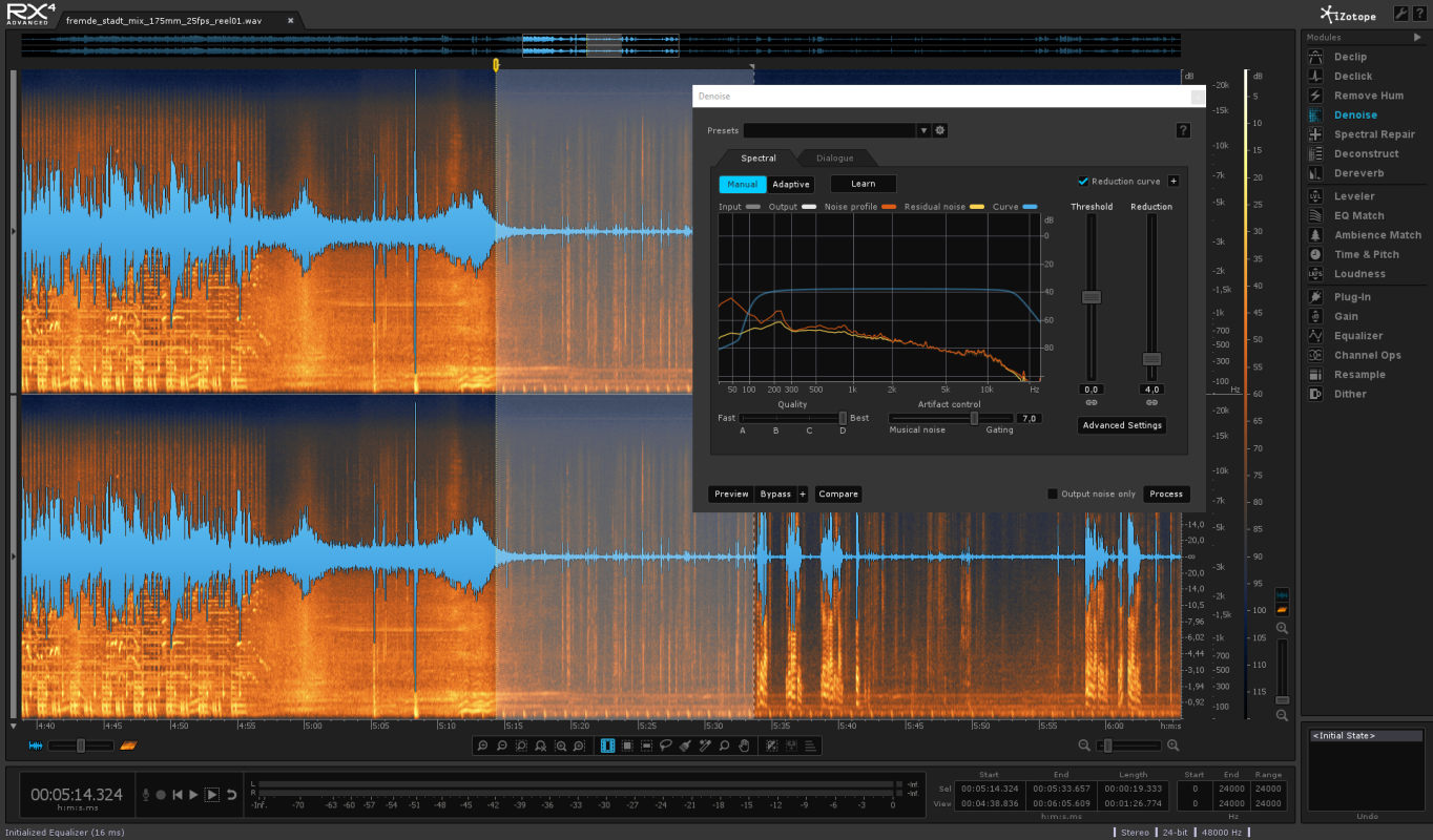 PostFactory Sound - iZotope RX Audiorepair