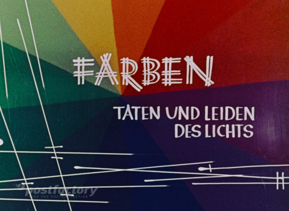PostFactory | DFF: Franz Schömbs -Farben Taten Und Leiden Des Lichts