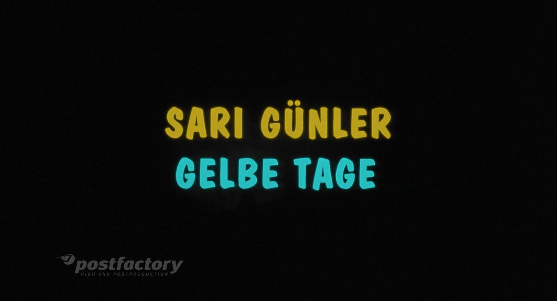 Gelbe Tage - Film