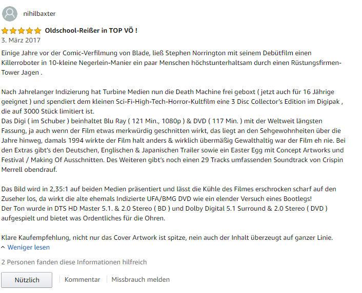 Amazon Rezension