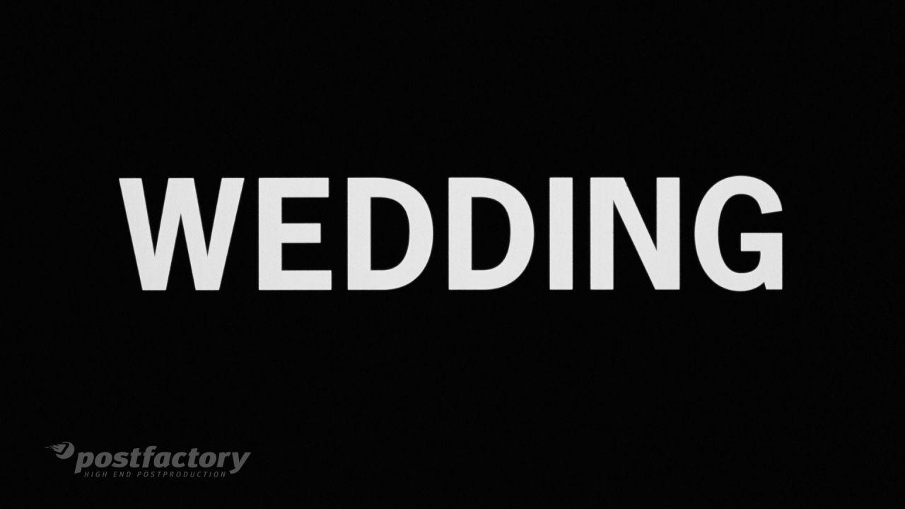 PostFactory: Wedding - Film